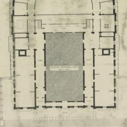 University Hall. Plan of fi...