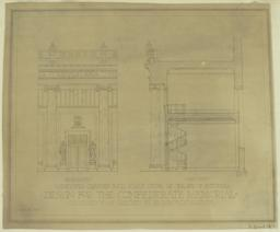 Design for the Confederate Memorial Proposed to be Erected at Richmond, Virginia. Developed Quarter Inch Scale Detail of One Bay of Rotunda. Elevation. Section