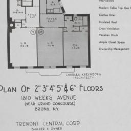 1810 Weeks Avenue, Plan Of ...