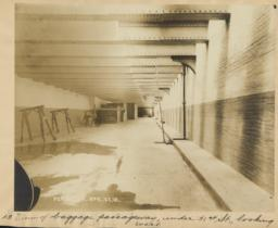 13. View of baggage passageway, under 31st St., looking west