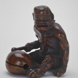 Demon Beating on a Wooden Gong