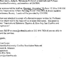 Announcements, 2000-12-07. ...