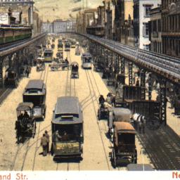 Bowery and Elevated Road, N...