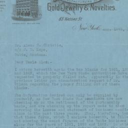 Leys, Christie & Co. Letter