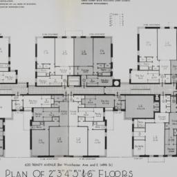 620 Trinity Avenue, Plan Of...