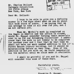 Letter from Franklin F. Hop...