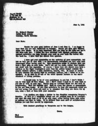 Letter from Gunnar Myrdal to Richard Sterner, June 9, 1941