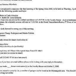 Announcements, 2002-04-11. ...