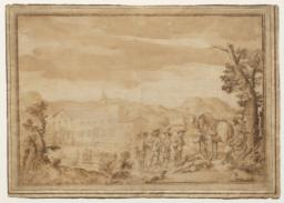 Landscape with Cavaliers before a Town