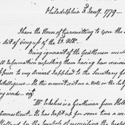 Document, 1779 January 03