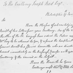 Document, 1779 January 27
