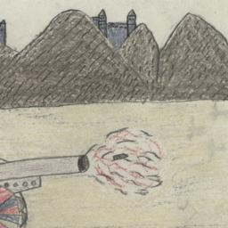 Drawing Of A Cannon
