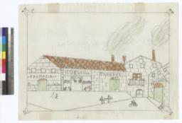 Drawing Of A Commercial Street