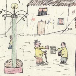 Drawing Of A Man Buying A N...