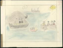 In This Drawing I Have Shown My Evacuation From San Sebastian To France.