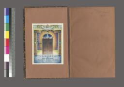 Inside front cover with bookplate