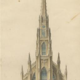 Drawings for unbuilt church...