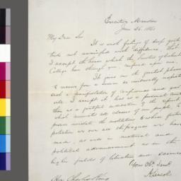 Manuscript letter in John H...