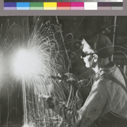 Photograph of welder, Empir...