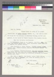 Typed letter, signed, to Robert A. Franks
