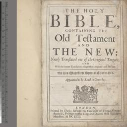 The     Holy Bible, contain...