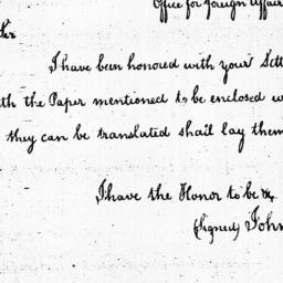 Document, 1785 August 22