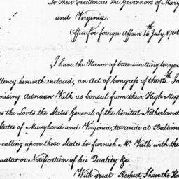 Document, 1785 July 15