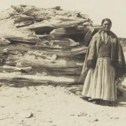 Navajo Woman Standing in fr...