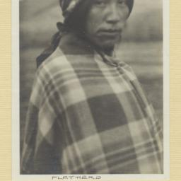 Salish Man in a Blanket and...