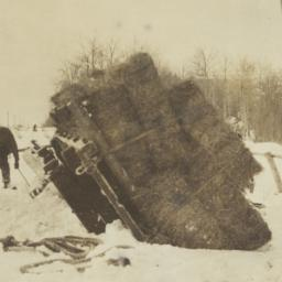 View of Overturned Sled Pil...