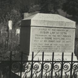 Gravestones of Kate McBeth ...