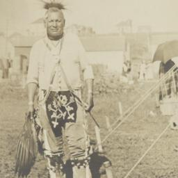 American Indian Man with He...