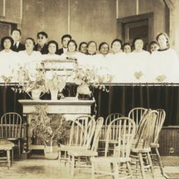 Church Choir, Mescalero, Ne...