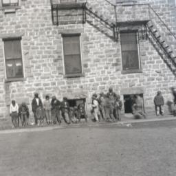 Boys outside of Pawnee Scho...