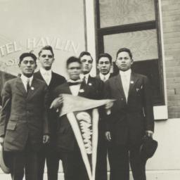 Young Men Holding Chilocco ...
