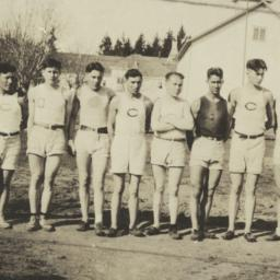 Line of Young Men in Shorts...
