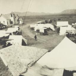 Camp Meeting Scene at Post ...