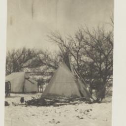 Tipi in Snow
