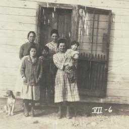 American Indian Family in f...