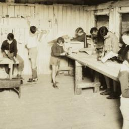 Boys in a Camp Workshop
