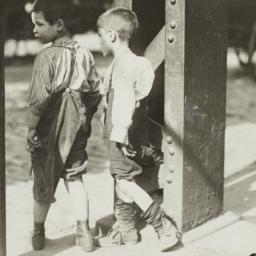 Boys Beside Street Girder