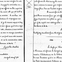 Document, 1785 August 30