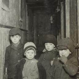 Four Boys in Coats