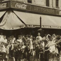 Children in Front of Pharmacy