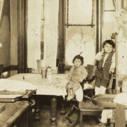 Three Children in Kitchen