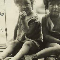 Close Up of Two Children on...