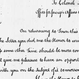 Document, 1786 April 19