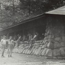 Boys Outside Cabin