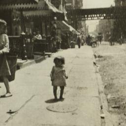 Little Girl on Sidewalk nea...