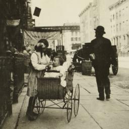 Girl with Baby in Carriage